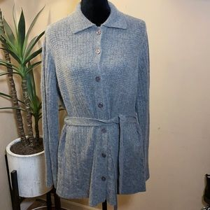 P&Y wool and Angora blend belted Cardigan